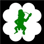 Leprechaun With Pipe Shamrock