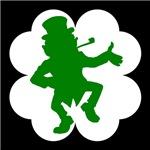 Dancing Leprechaun Shamrock