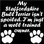 Well Trained Staffordshire Bull Terrier Owner