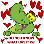 Crocodile Valentines Day