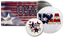 USA magnets,  buttons and stickers!