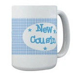Future Cousin and New Cousin Mugs