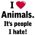 Love Animals Hate People T-shirts and Gifts