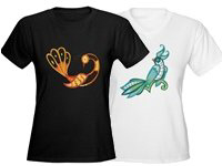 Beautiful Lace Birds T-shirts and Gifts