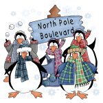 North Pole Penguins T-shirts and Gifts