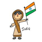 India Ethnic Stick Figure T-shirts and Gifts