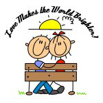 Love Makes the World Brighter T-shirts and Gifts