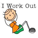 Male I Work Out Tshirts and Gifts