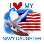 Love My Navy Daughter T-shirts and Gifts