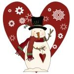 Snowman and Heart Tshirts and Gifts