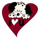 Dalmation Valentine Tshirts and Gifts