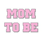 Pink Text Mom to Be Tshirts and Gifts