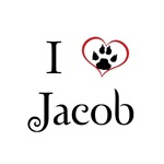 I Love (Paw Imprint) Jacob