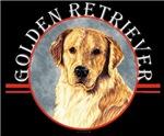 Golden Retriever Black T-shirt Designs