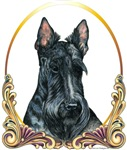 Scottish Terrier Scotty Gold Ring T-shirts Apparel