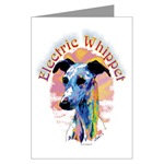 Electric Whippet Dog Post Cards Note Card & Stamps
