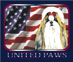 Gold Shih Tzu Patriotic United Paws Flag Design