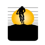 Cyclist Silhouette T-shirts and gifts.
