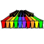 Rainbow Piano T-shirts and gifts.