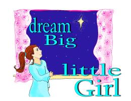 dream big little girl