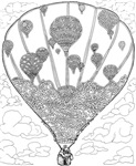 Hot Air Balloon,#28Knot - Original Ink