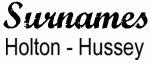 Vintage Surname - Holton - Hussey