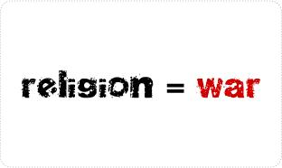 Religion is War T-shirts