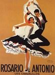 Flamenco, Dancers, Vintage Poster