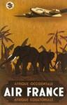 Africa, Elephants, Vintage Poster
