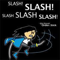 Miko: Slash! Slash! Slash! Slash! Slash!