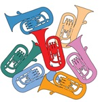 Colorful Euphoniums