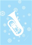 Euphonium Snowflake Cards and Ornaments