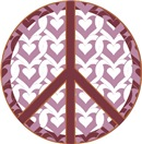 Peace sign with hearts