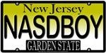 Nasty Boy New Jersey Vanity License Plate Design