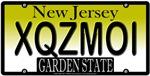 XQZMOI New Jersey Vanity Plate Design