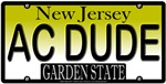 Cool Dude New Jersey Vanity License Plate Design