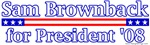 Sam Brownback for President 2008 Design