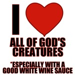 I LOVE God's Creatures Evil Conservative T-Shirts