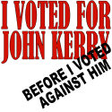 Voted For AND Against Kerry George Bush T-shirts