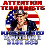 Anti Terrorist Uncle Sam T-shirts & Gifts