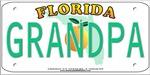 Grandpa Florida Vanity Plate