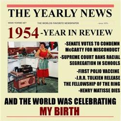 born in 1954 birthday gift