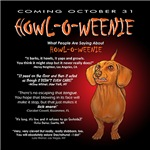 Howl-O-Weenie Dachshund T-shirts and Gifts