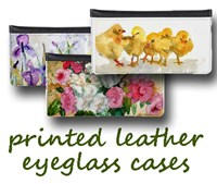 Printed Leather Eye Glass Cases