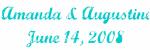 Amanda & Augustine June 14, 2008