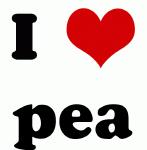 I Love pea