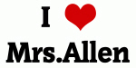 I Love Mrs.Allen