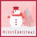 Snowman Modern Merry Christmas