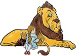 Wizard of Oz Dorthy & Lion