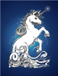 Blue Rearing Guardian Unicorn